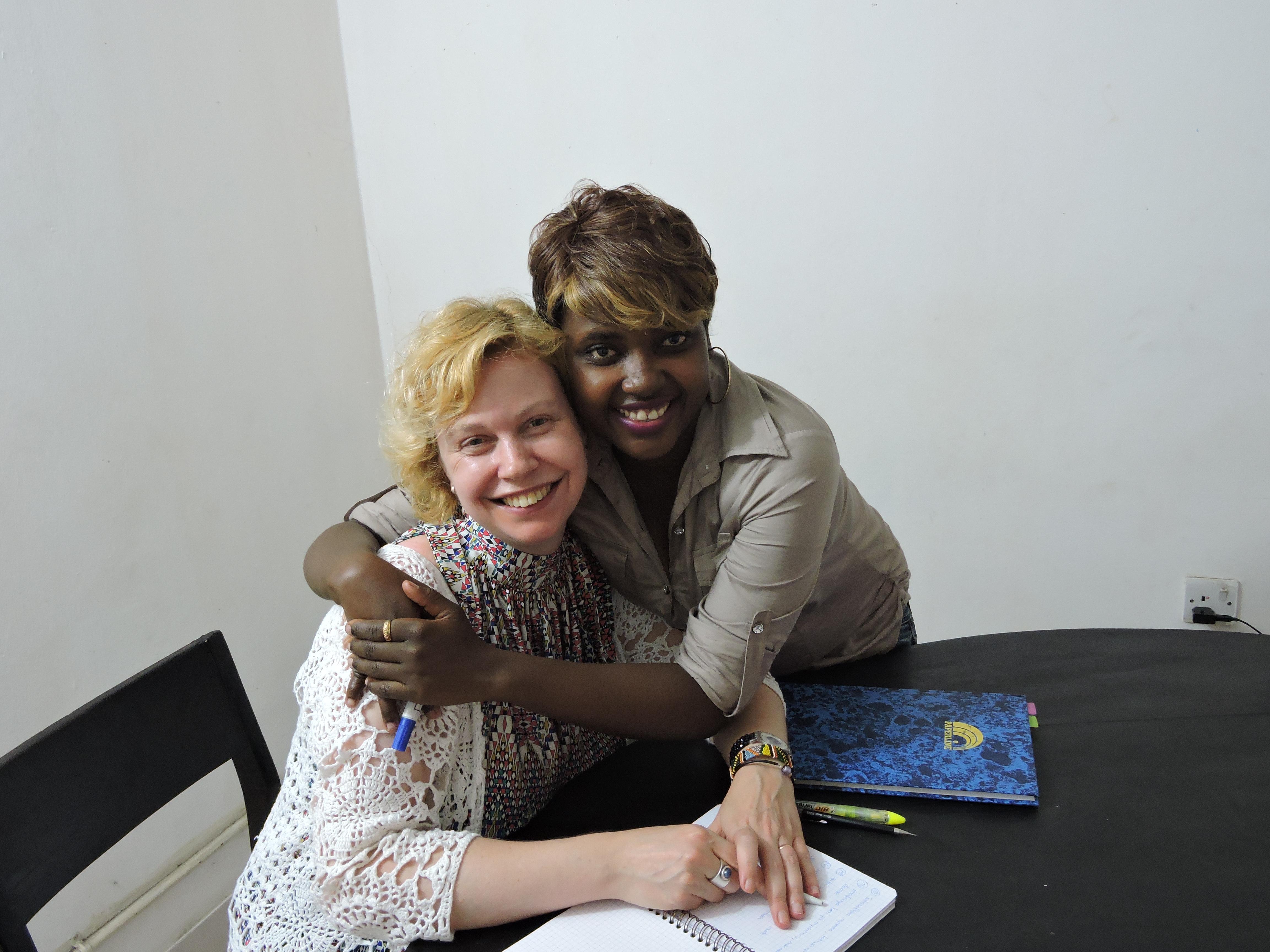 Susan and her Swahili teacher in Dar es Salaam